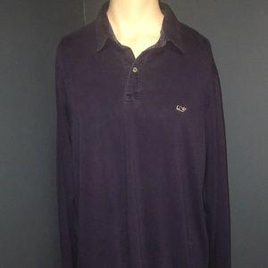 Vineyard vines XL longs sleeve shirt collard Navy